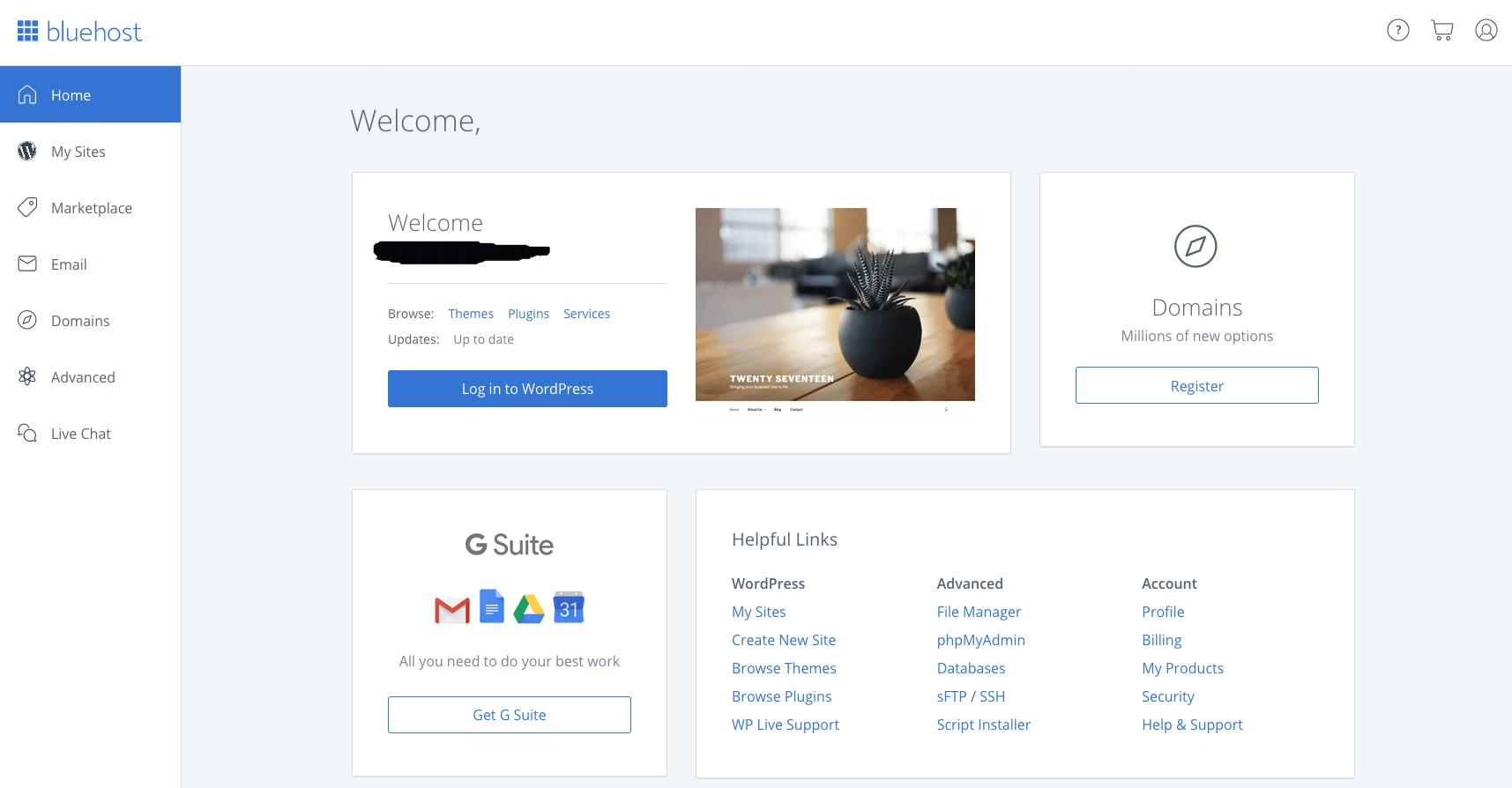 BlueHost-WordPress-Installation