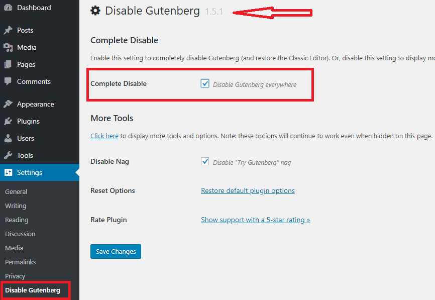 Disable-Gutenberg-plug-in