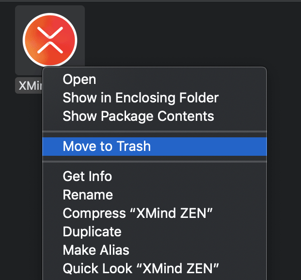 Trash Programs on Mac