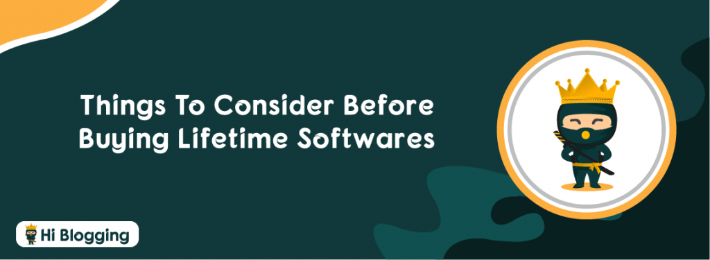 Things to Consider Before Buying Lifetime Softwares