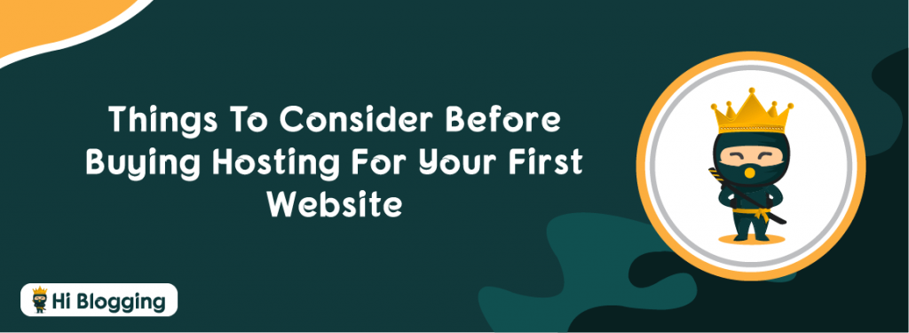 Buying Hosting For Your First Website