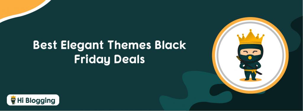 Elegant themes black Friday deals