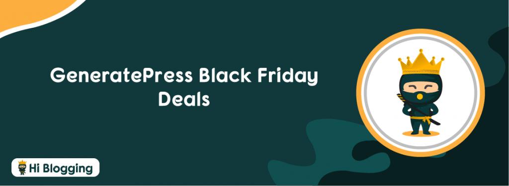 GeneratePress Black Friday Deals