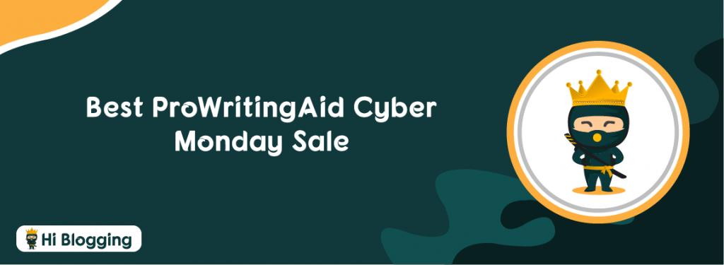 ProWritingAid Cyber Monday Sale